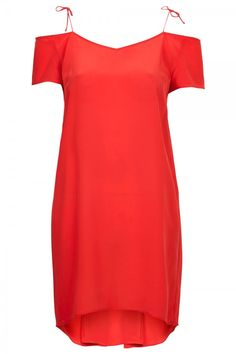 Valentine's Day Dresses: 15 That'll Make You Look And Feel Amazing. Topshop strappy off the shoulder silk dress