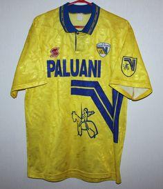 Rare Vintage Chievo Verona Italy home shirt 94 95 ABM Italy House 7df174004