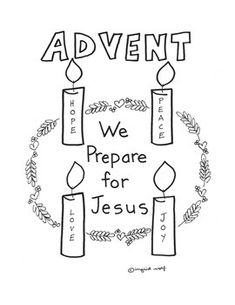Kids' Advent Wreath- Free Printables (Look to Him and be