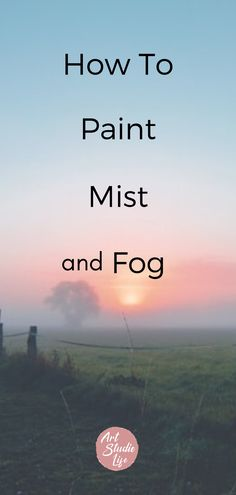 Learn how to paint fog and mist as well as other transient effects. Full step by step oil painting tutorial for beginners. Oil Painting For Beginners, Acrylic Painting Lessons, Acrylic Painting Techniques, Painting Tips, Art Techniques, Painting Videos, Painting Tutorials, Beginner Painting, Painting Canvas