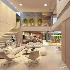 """Luxury Homes Interior Dream Houses Exterior Most Expensive Mansions Plans Modern 👉 Get Your FREE Guide """"The Best Ways To Make Money Online"""" Dream Home Design, Modern House Design, My Dream Home, Modern Condo, Modern Loft, Design Exterior, Luxury Home Decor, Dream Rooms, House Rooms"""