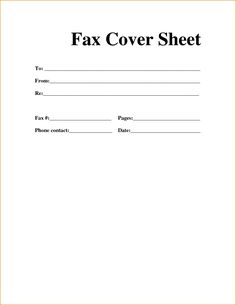 Blank Fax Cover Sheet Template Fax Cover Sheet Format Template  News To Go 2  Pinterest