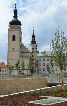 Old Town Square in Mladá Boleslav (Central Bohemia), Czechia