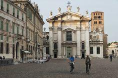 "Mantua, Piazza Sordello - ""Mantua by bike, between art and nature"" by @crowdedplanet"