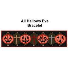 All Hallows Eve Beaded Bracelet Pattern at Sova-Enterprises.com
