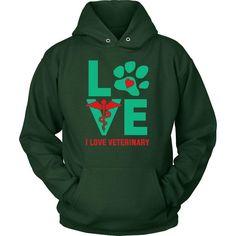 I Love Veterinary Logo Shirts and Hoodies