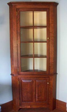Corner Cupboard in Cherry