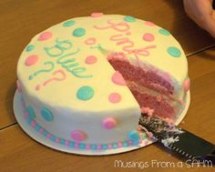 Baby Gender Reveal Cake!!! Sooo gonna do this later on in my life