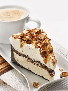 Italian Amaretto Mousse Pie - Recipes, Dinner Ideas, Healthy Recipes & Food Guide www.greennutrilabs.com