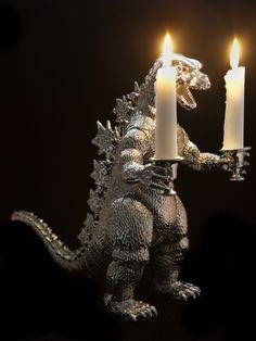 Johan Bruninx. repurposed/upcycled Godzilla candelabra