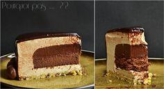 Pourquoi pas .... ??: Gat-Ô Irish coffee: La légèreté et la douceur de la mousse café, l'intensité de la ganache au Baileys, onctueuse et crémeuse, le moelleux du biscuit fondant, le croquant du sablé et son petit côté torréfié apporté par le grué de cacao