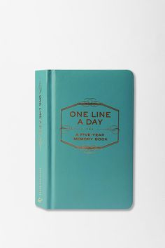 One Line a Day: A Five Year Memory Book - for those who don't have time to write in-depth journal entries.