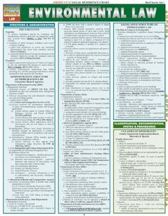 Environmental Law (Tri-Fold Laminated Chart) by Inc. BarCharts. $5.95. Publisher: QuickStudy; Chrt edition (December 31, 2009)