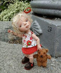 Ksenia  OOAK BJD  doll  polymer clay  Handmade von AlenaArtDolls