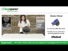 How to replace the wheel on an iRobot Roomba vacuum cleaner, BuySpares 'how to videos'.