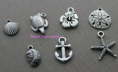 Add a pewter beach charm to any stainless steel bracelet in my shop
