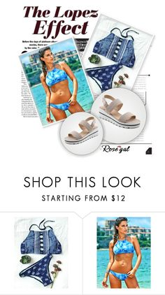 """LoPEZ EFFECT via ROSEGAL"" by maja-sifetova ❤ liked on Polyvore featuring Jennifer Lopez, contest, beach, bikini and rosegal"