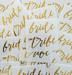 New*** bride tribe - set of 10- temporary GOLD tattoo - bachelorette bridal party favor-bridesmaid tattoo-hens party- READY-to-SHIP by janetmorrin on Etsy