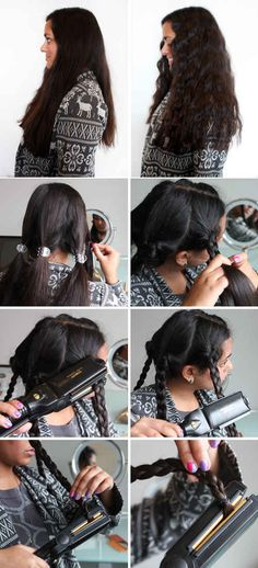 Flat-iron your braids as a quick way to create waves.