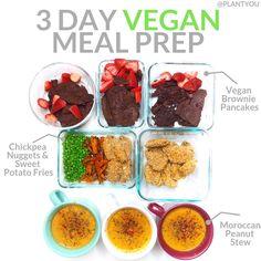 An easy vegan plant-Based meal prep! Meal Prep Plans, Vegan Meal Plans, Vegan Meal Prep, Clean Eating Recipes, Healthy Eating, Healthy Food, Vegetarian Recipes, Healthy Recipes, Sweet Recipes