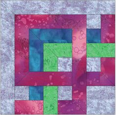 Celtic French Corner Knot Chain Paper Template Quilting Block 6x6 Pattern PDF by HumburgCreations on Etsy