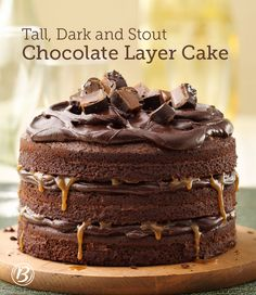 Rich layers of chocolate cake, combined with stout beer and caramel make for an extra-dreamy dessert indulgence. To up the chocolate flavor, use chocolate stout!