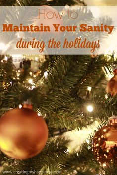Back in my day, the holidays began after Halloween. Now-a-days things are very different. Here are some great tips for staying sane during the busy holiday season.