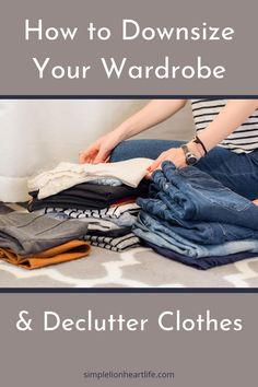 How to downsize your wardrobe White Wardrobe, Wardrobe Basics, Capsule Wardrobe, Organizing, Closet Organization, Organization Ideas, Minimalist Wardrobe Essentials, Declutter Home, Capsule Outfits