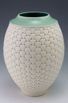 Porcelana, disparado al cono 6 en la oxidación, 9,25 x 6,75