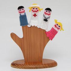 Hospital Finger Puppet Set Includes Doctor Nurse Boy by WeeKnit, $9.20