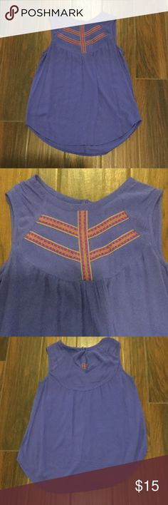 Purple blouse Purple 100% rayon top with beautiful stitching detail. Hand wash. Tops Blouses