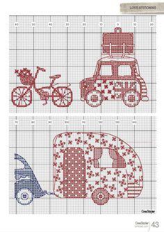 tenceremiz: Hippy Travel cross stitch pattern