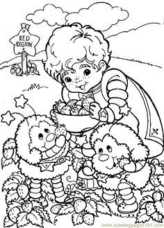 Printable Coloring pages rainbow brite rainbow