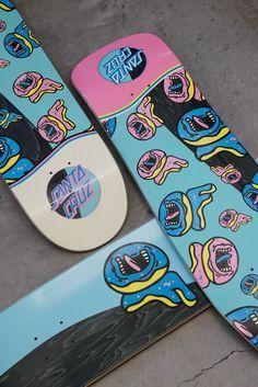 Santa Cruz x Odd Future Santa Cruz x Odd Future Cruiser Skateboard, Skateboard Deck Art, Skateboard Design, Penny Skateboard, Electric Skateboard, Santa Cruz Skateboards, Custom Skateboards, Cool Skateboards, Skate Decks