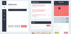 Flat Design – 11 Ressources PSD utiles
