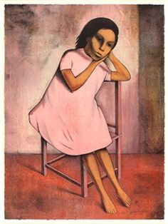 The girl in pink By Gustavo Montoya ,1985