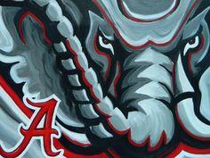 Alabama Crimson Tide painting sports art college by crockerart, $50.00
