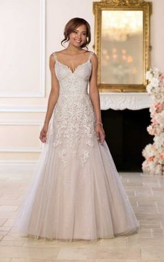 6612 Open Back Wedding Dress with Beading by Stella York