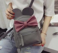 SALE ONLY $25.99 + - Disney Minnie Mickey Mouse Ears Bow Mini Backpack Bag- Available In 12 Color Combinations-READY TO SHIP OPTION AVAILABLE