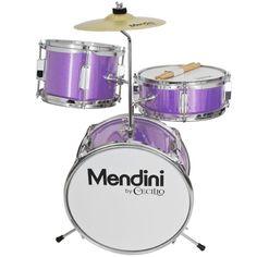 "Junior Drum Set For Kids Purple Starter Kits 3-Piece 13"" Drumset Beginners Gift - http://musical-instruments.goshoppins.com/percussion/junior-drum-set-for-kids-purple-starter-kits-3-piece-13-drumset-beginners-gift/"