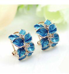 """blue leaf""""__Almost Women/Girls Love Jewelry__jewelry making,jewelry diy,unique jewelry,jewelry rings,jewelry organizer,boho jewelry,vintage jewelry,cute jewelry,simple jewelry,teen jewelry,jewelry photography,jewelry storage,jewelry display,statement jewelry,leather jewelry"""""""