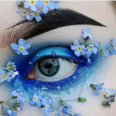 makeup 2019 simple makeup material name q makeup remover pads do eye makeup makeup brown eyes makeup ideas for green eyes makeup for hazel eyes eye makeup remover is best for eyelash extensions Eye Makeup Art, Eye Art, Cute Makeup, Pretty Makeup, Makeup Style, Makeup Eyes, Flower Makeup, Fairy Makeup, Aesthetic Eyes