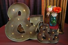 Marquee Sign, Marquee Lights, Ampersand Sign, Fashion Lighting, Battery Operated, Led, Metal, Pattern, Patterns