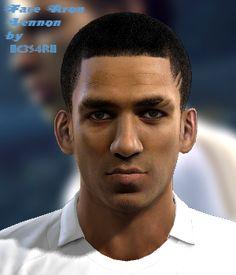 Aron Lennon face for Pro Evolution Soccer 2012 Pro Evolution Soccer, Faces, Technology, Tech, The Face, Tecnologia, Face