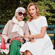 Iris Apfel and Karlie Kloss Star in Kate Spade's Spring Campaign. This might be the season's most stylish duo.