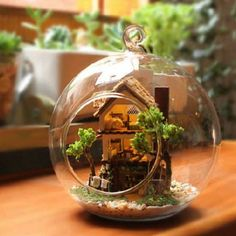 Miniature Mode DIY Forest Dream House of Glass Bottle