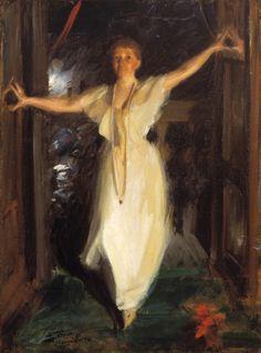 """Anders Zorn """"Isabella Stewart Gardner"""" (1894). Olja på duk 90 x 66 cm. The Isabella Stewart Gardner Museum, Boston."""