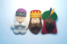 The Three Wise Men felt brooches or Christmas ornaments by Loopicraft,
