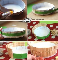 A Basket from Wooden Clothespins - Make it in 10 Minutes Preschool Themes, Craft Activities For Kids, Preschool Crafts, Easter Crafts, Crafts For Kids, Diy Crafts, Handmade Paper Boxes, Wooden Clothespins, Diy Projects To Try