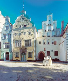 3 brother buildings in old riga
